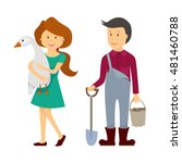 farmers cartoon working in... | Shutterstock .eps vector #481460788