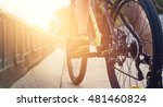 low angle view of cyclist... | Shutterstock . vector #481460824