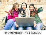 women surprised facial... | Shutterstock . vector #481465300