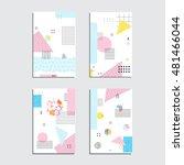 set of artistic vector greeting ... | Shutterstock .eps vector #481466044