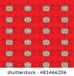 spider halloween emotion vector ... | Shutterstock .eps vector #481466206