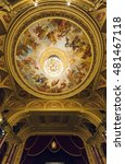Small photo of BUDAPEST, HUNGARY- APRIL 11 2015: interior of the Hungarian Royal Opera House, considered one of the architect's masterpieces and has the third best acoustics in Europe.