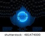 halloween party flyer. vector... | Shutterstock .eps vector #481474000