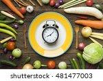 food clock. healthy food...
