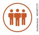 people  icon vector. flat... | Shutterstock .eps vector #481487173