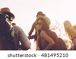 travelling with friends. group... | Shutterstock . vector #481495210