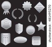collection of vector silver...   Shutterstock .eps vector #481495270