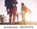 wilderness explorers. low angle ... | Shutterstock . vector #481497376