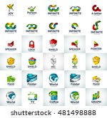 vector abstract business logo... | Shutterstock .eps vector #481498888