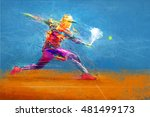 abstract tennis player | Shutterstock . vector #481499173