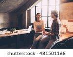 good talk with colleague.... | Shutterstock . vector #481501168