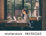 concentrated at work. confident ... | Shutterstock . vector #481502263