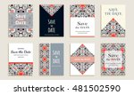 save the date. set of cards... | Shutterstock .eps vector #481502590