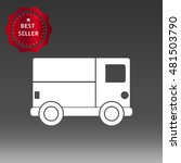 delivery truck vector icon... | Shutterstock .eps vector #481503790