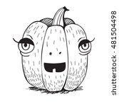 pumpkin isolated on white. ... | Shutterstock .eps vector #481504498