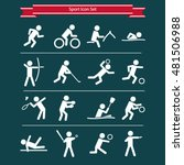 sports icon set | Shutterstock .eps vector #481506988