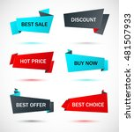 vector stickers  price tag ... | Shutterstock .eps vector #481507933