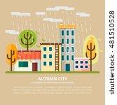 autumn landscape in a cloudy... | Shutterstock .eps vector #481510528