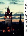 edinburgh city skyline viewed... | Shutterstock . vector #481510930