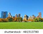 manhattan midtown skyline... | Shutterstock . vector #481513780