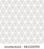 illusion triangle pattern ... | Shutterstock .eps vector #481520590