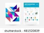 geometric background. template... | Shutterstock .eps vector #481520839