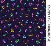 memphis seamless pattern 80's... | Shutterstock .eps vector #481521433