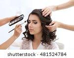 makeup artist and hairdresser... | Shutterstock . vector #481524784