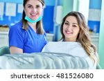 a pretty young woman with a...   Shutterstock . vector #481526080