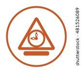clock icon . flat design. | Shutterstock .eps vector #481526089