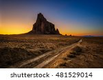 Sunset Above Shiprock. Shiproc...