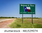 welcome to texas state sign | Shutterstock . vector #481529074