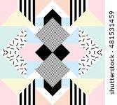 seamless geometric pattern in... | Shutterstock .eps vector #481531459