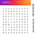material design icons set. thin ... | Shutterstock .eps vector #481533028