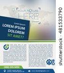 vector brochure  flyer ... | Shutterstock .eps vector #481533790