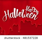 vector halloween poster with... | Shutterstock .eps vector #481537228