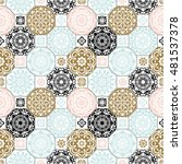 seamless patchwork pattern from ... | Shutterstock .eps vector #481537378