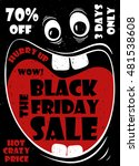 funny black friday sale poster... | Shutterstock .eps vector #481538608