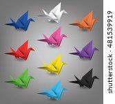 Vector Set Of Paper Cranes ...