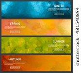 four seasons template banners... | Shutterstock .eps vector #481540894