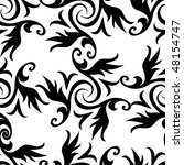 seamless black and white... | Shutterstock .eps vector #48154747