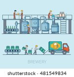 linear flat beer production... | Shutterstock .eps vector #481549834