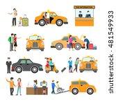 flat modern families catching... | Shutterstock .eps vector #481549933