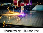 cnc laser plasma cutting of... | Shutterstock . vector #481555390