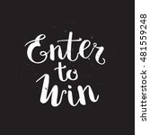 enter to win vector sign | Shutterstock .eps vector #481559248