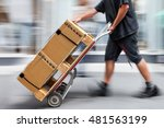 Delivery Goods With Dolly By...