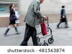 blurred movement disabled on a... | Shutterstock . vector #481563874
