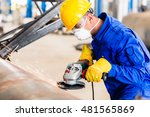 Industrial Worker In...