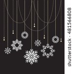 vector winter background with... | Shutterstock .eps vector #481566808