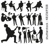guitar players vector... | Shutterstock .eps vector #481569508